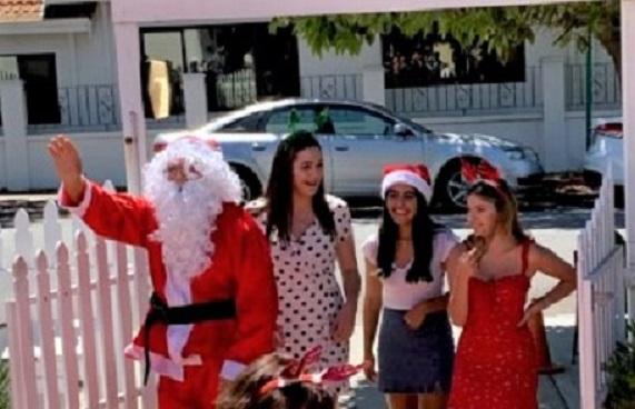 Santa With Belles